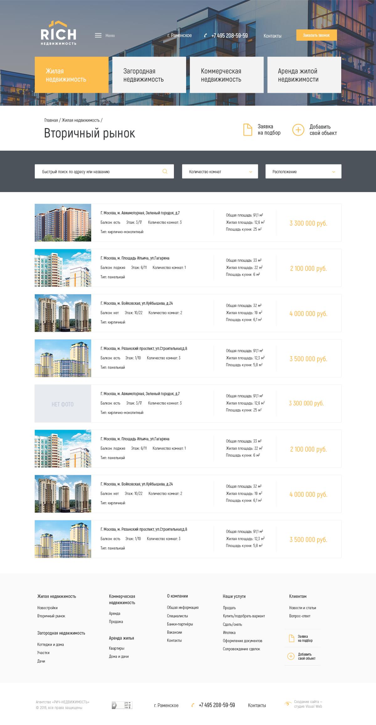 База объектов недвижимости