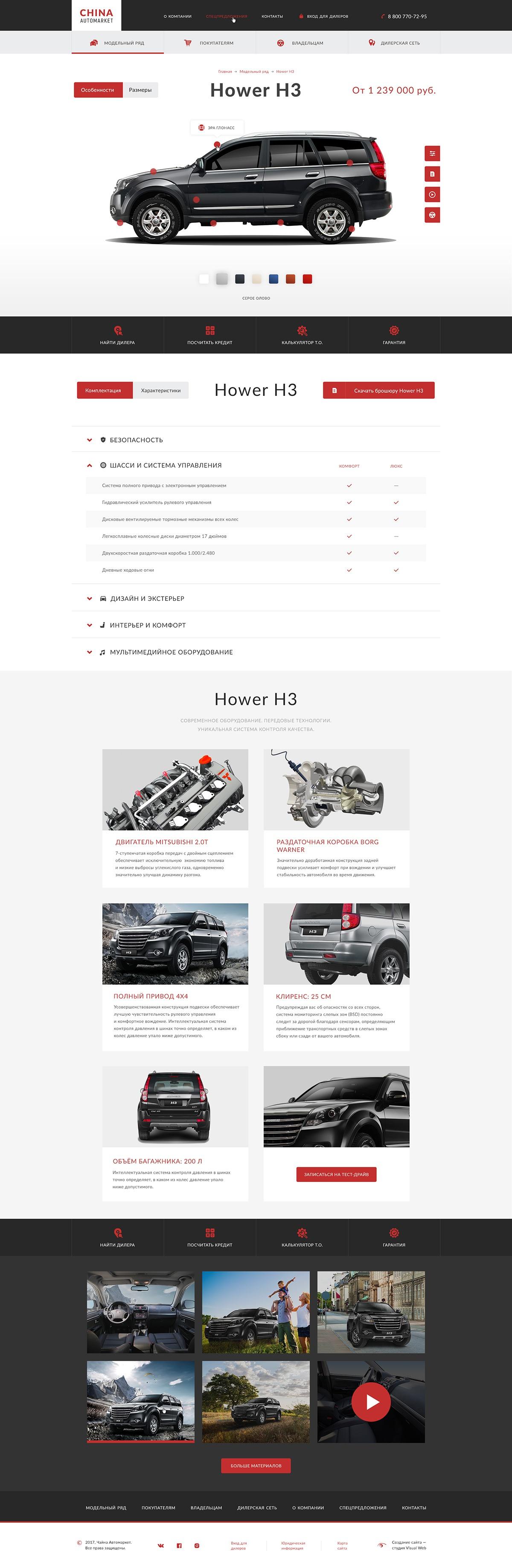 Подробная информация о каждом автомобиле