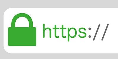 Вид защищенного соединения с помощью SSL сертификата